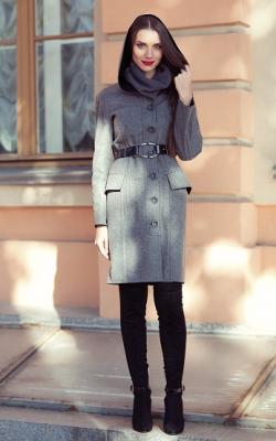 Классическое пальто с капюшоном фото 3
