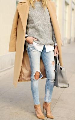 классическое пальто с чем носить фото