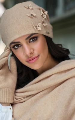 комплект шапка шарф перчатки женские фото 1