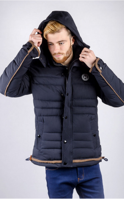 Короткая мужская куртка зима фото 3