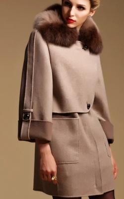 Кашемировое пальто укороченное фото 1