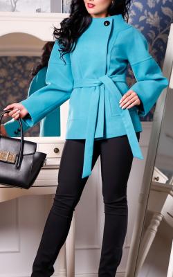 Кашемировое пальто укороченное фото 2
