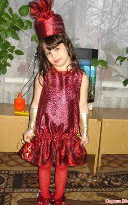 Новогодний костюм конфетки для девочки фото 1