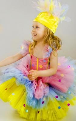 Новогодний костюм хлопушки для девочки фото 2