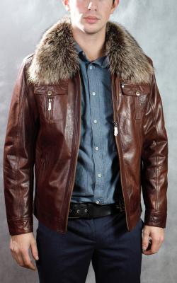 Мужская кожаная куртка зима фото 2