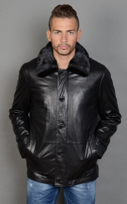 Мужская кожаная куртка зима фото 3