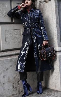 Кожаное пальто фото 6