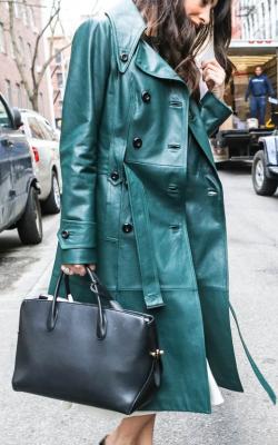 Кожаное пальто фото 7