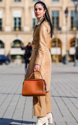 Кожаное пальто фото 11