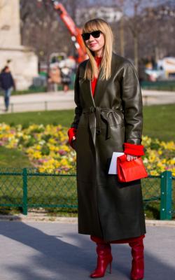 Кожаное пальто фото 12
