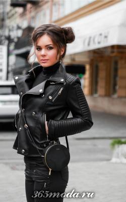 Женские кожаные куртик 2018-2019 фото 1