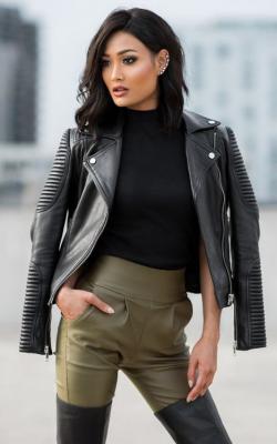 Женские кожаные куртик 2018-2019 фото 2