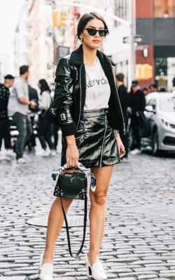 Женские кожаные куртик 2018-2019 фото 13