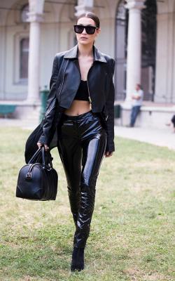 Женские кожаные куртик 2018-2019 фото 15