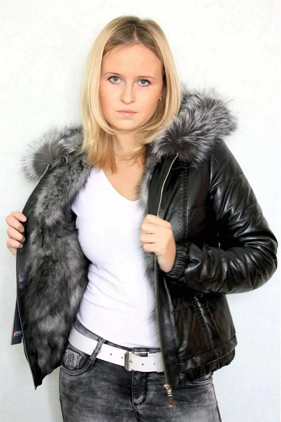 Женские кожаные куртки с мехом – зима 2018-2019  фото 6356cd93af4f1