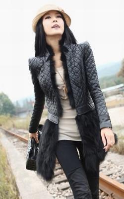 Кожаная курточка с меховой отделкой