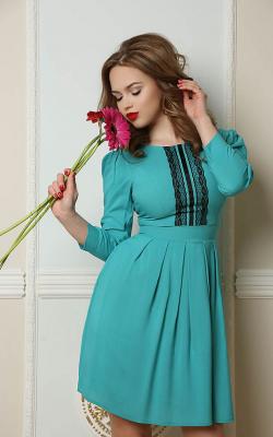 бордовое офисное платье фото 3