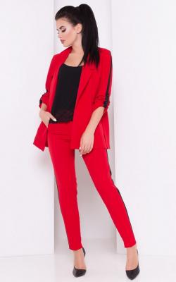 Красный костюм с лампасами фото 6