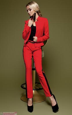 Красный костюм с лампасами фото 7