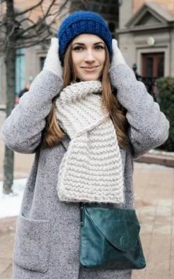 С чем носить вязаную шапку фото 3