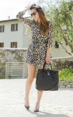 Платье с леопардовым принтом 2018 фото 1
