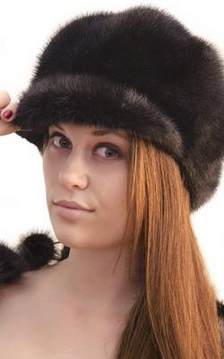 Меховая кепка женская фото 1,