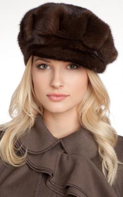 Меховая кепка женская фото 2