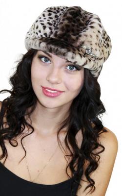 Меховая кепка женская фото 3