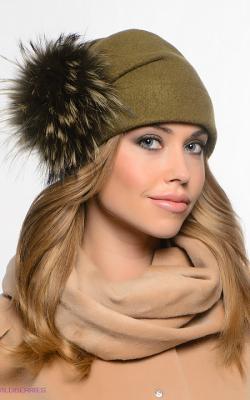 шерстяная женская шапка фото 5