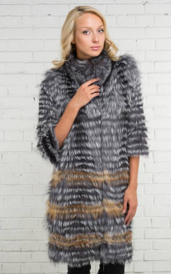 Меховое пальто на трикотажной основе фото 2