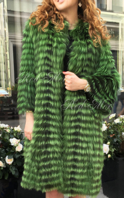 Меховое пальто на трикотажной основе фото 3