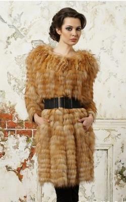 Меховое пальто на трикотажной основе фото 4