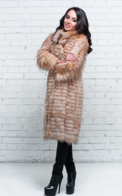 Меховое пальто на трикотажной основе фото 5