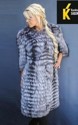 Меховое пальто на трикотажной основе фото 7