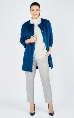 Меховое пальто на трикотажной основе фото 8