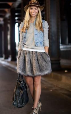 Меховая юбка фото 1