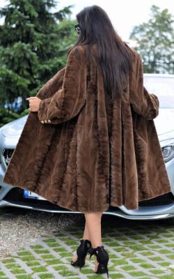 Модные цвета норковых шуб 2018 фото обзор моделей2
