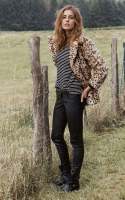 С чем носить леопардовую шубу-3