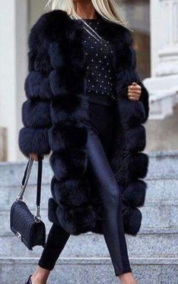 модные луки с шубой14