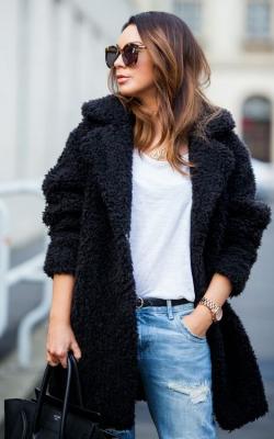 модные луки с шубой25