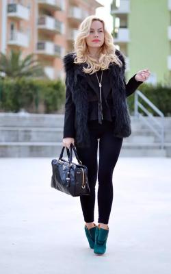 модные луки с шубой47