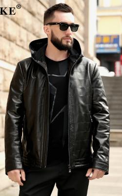 Мужская кожаная куртка фото 4