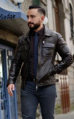 Мужская кожаная куртка фото 15