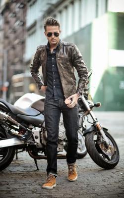 Мужские кожаные куртки 2018-2019 фото 7