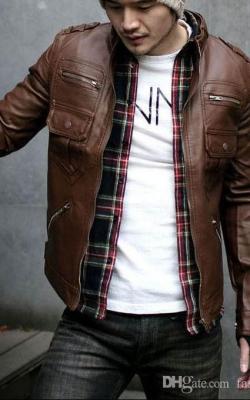 Мужские кожаные куртки 2018-2019 фото 8