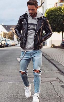 Мужские кожаные куртки 2018-2019 фото 9