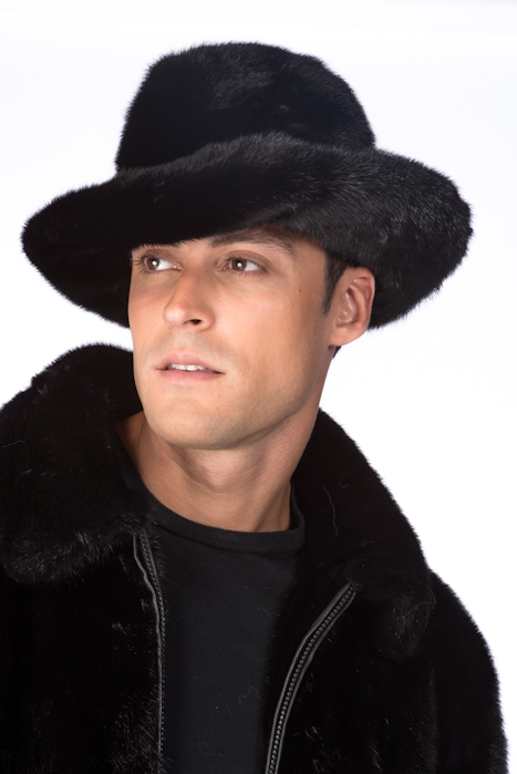 Шляпа норковая для мужчин 1