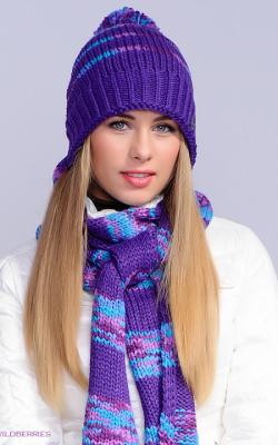шапка шарф женский набор фото 2