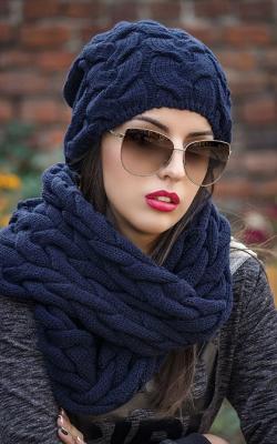 шапка шарф женский набор фото 3