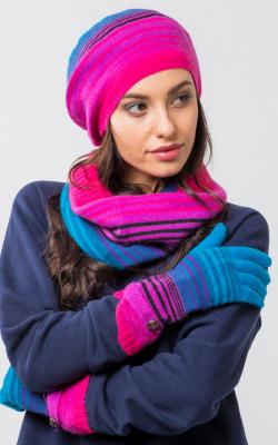 шапка шарф перчатки 1